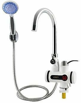 Electric Water Heater Faucet Tankless Instant Heating Shower Tap For Bathroom