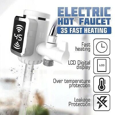 Electric Water Heater Faucet Tap Hot Cool Water Kitchen Home Instant Heating Tap