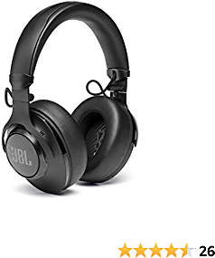 JBL Best CLUB 950, Premium Wireless Over-Ear Headphones with Hi-Res Sound Quality and Adaptive Noise Cancellation, Black