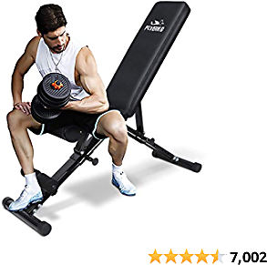 FLYBIRD Top Weight Bench, Adjustable Strength Training Bench for Full Body Workout with Fast Folding- 2020 Version