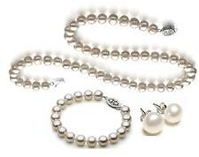 Diamond Princess Genuine Pearl Set
