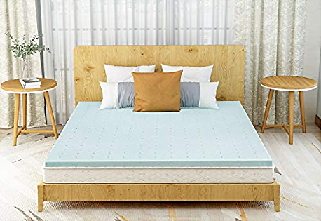 Milemont Mattress Topper Twin Size 1.5 Inch Gel Swirl Memory Foam Bed Pad Topper for Firm Twin Bed Dorm