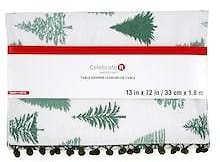 50% OFF | Evergreen Trees Table Runner By Celebrate It™ Christmas