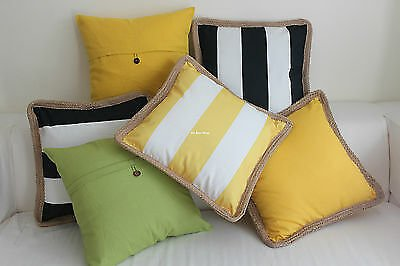 Green Yellow Black Outdoor Home Decor Cotton CUSHION COVER THROW PILLOW CASE 18