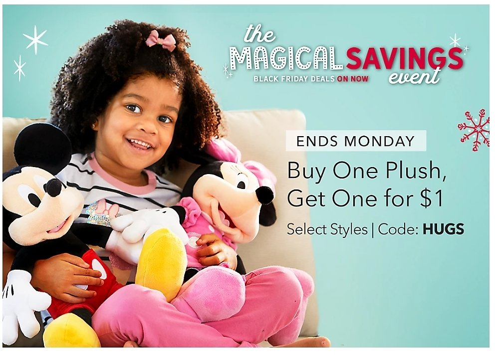BUY ONE PLUSH, GET ONE FOR $1 | ShopDisney