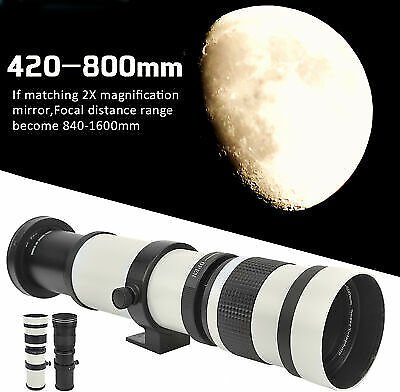 420-1600mm F/8.3 - 16 Manual Focusing Telephoto Lens for Canon EF Mount Camera