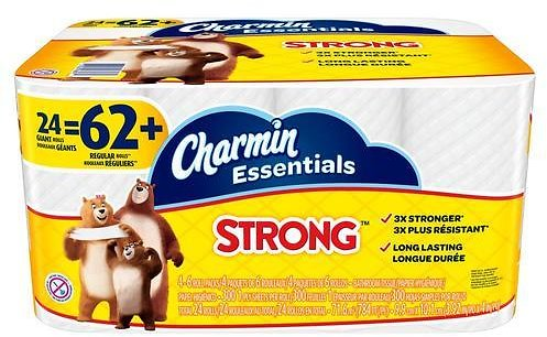 Charmin Essentials Strong 24-Pack Toilet Paper Lowes.com