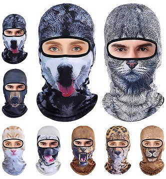 3D Animal Breathable Bicycle Ski Full Face Mask HatsWomen's AccessoriesfromApparel Accessorieson Banggood.com