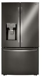 LG Electronics 23.5 Cu. Ft. Smart French Door Refrigerator, Dual Ice with Craft Ice in PrintProof Black Stainless Steel, Counter Depth-LRFXC2416D
