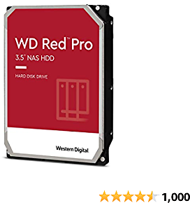 Western Digital 12TB WD Red Pro NAS Internal Hard Drive - 7200 RPM Class, SATA 6 Gb/s, CMR, 256 MB Cache, 3.5
