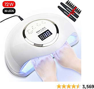 Gel UV LED Nail Lamp Jewhiteny Nail Dryer 72W Nail Gel Polish UV Light With 4 Timers for Two Hand