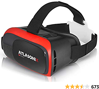 VR Headset Compatible with IPhone and Android Phones - Virtual Reality Goggles | Comfortable & Adjustable Glasses with Full Eye Protection | Play Your Best Mobile 3D Games - Gift for Kids and Adults
