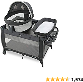 Graco Pack 'n Play Travel Dome LX Playard | Features Portable Bassinet, Diaper Changer, and More, Redmond, Amazon Exclusive
