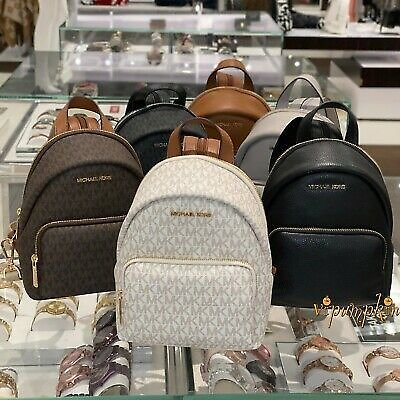 MICHAEL KORS ERIN SMALL CONVERTIBLE BACKPACK MK SIGNATURE PVC LEATHER