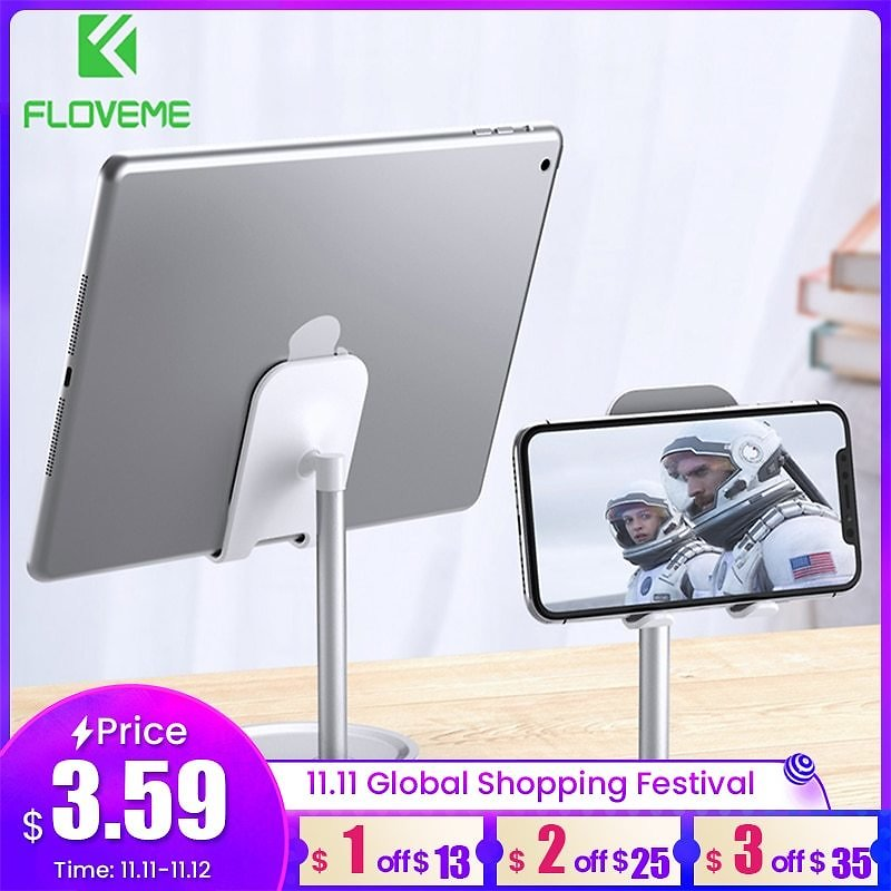 US $3.99 60% OFF|FLOVEME Universal Tablet Phone Holder Desk For IPhone Desktop Tablet Stand For Cell Phone Table Holder Mobile Phone Stand Mount|Phone Holders & Stands| - AliExpress