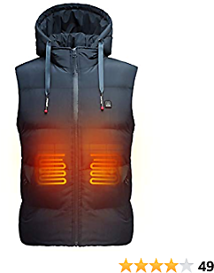 DEWBU Heated Vest With 7.4V Battery Pack Lightweight Electric Heating Coat For Men