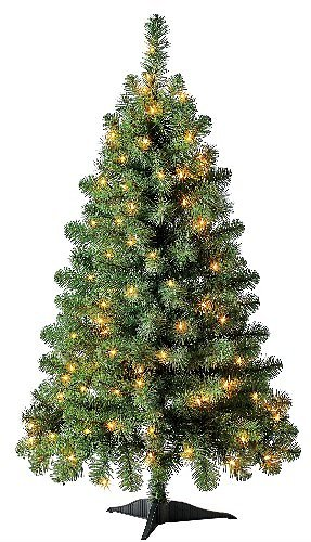 Holiday Time Pre-Lit Artificial Christmas Tree 4-Foot