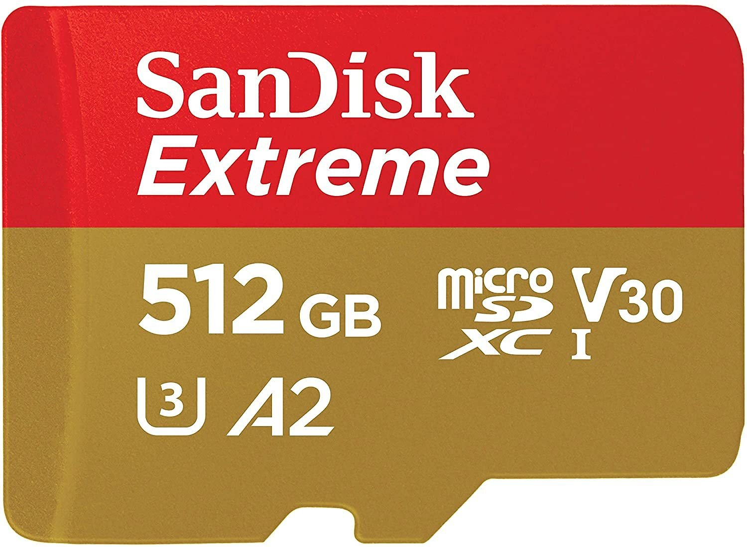 60% Off SanDisk 512GB Extreme MicroSDXC UHS-I Memory Card with Adapter - C10, U3, V30, 4K, A2, Micro SD - SDSQXA1-512G-GN6MA