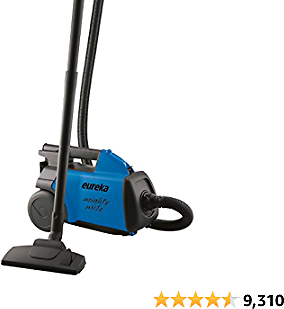 Eureka Mighty Mite Bagged Canister Vacuum Cleaner, 3670H w/ 2bags, 3670h-blue