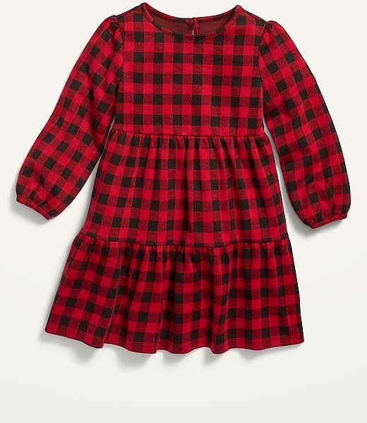 Plaid Tiered Swing Dress for Toddler Girls | Old Navy