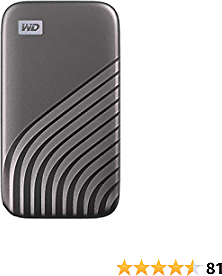 WD 2TB My Passport SSD External Portable Drive, Gray, Up to 1,050 MB/s - WDBAGF0020BGY-WESN