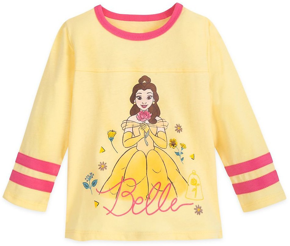 Belle Football T-Shirt for Girls – Beauty and The Beast | ShopDisney