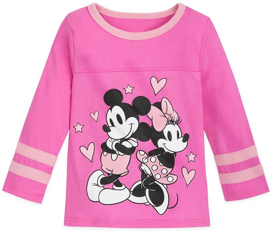 Mickey and Minnie Mouse Football T-Shirt for Girls | ShopDisney