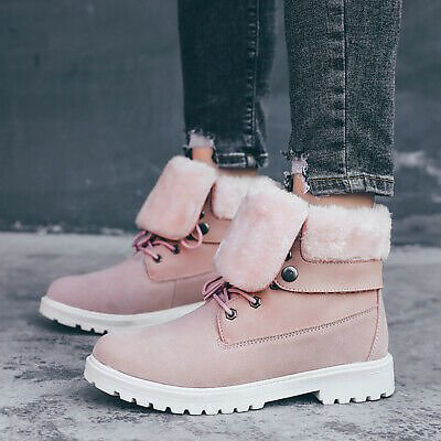 Winter Women Warm Ankle Work Snow Boots Hiking Trail High Top Shoes
