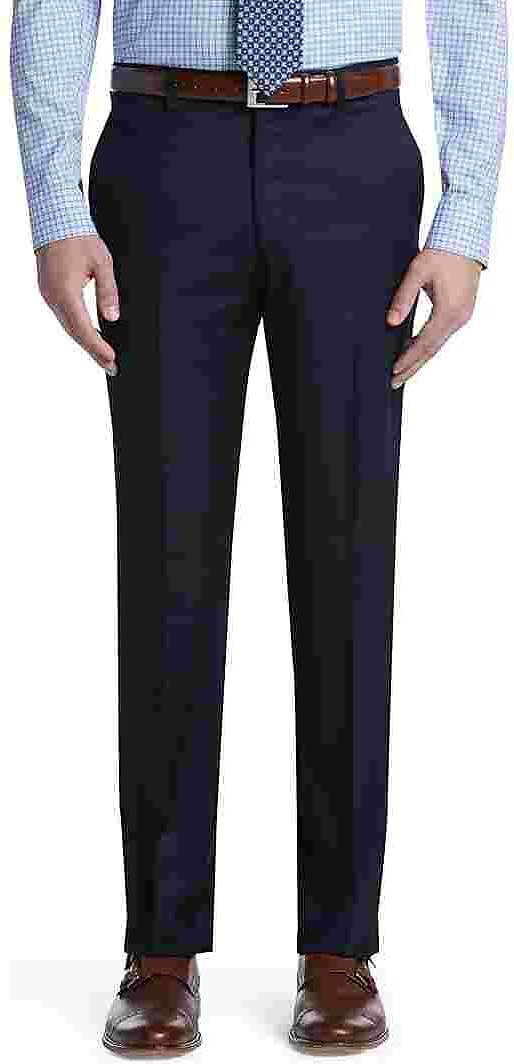 Signature Collection Tailored Fit Flat Front Pants - Big & Tall