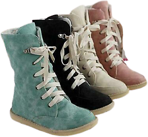 Fashion Women Faux Suede Lace Up Winter Warm Thicken Ankle Snow Boots Shoes