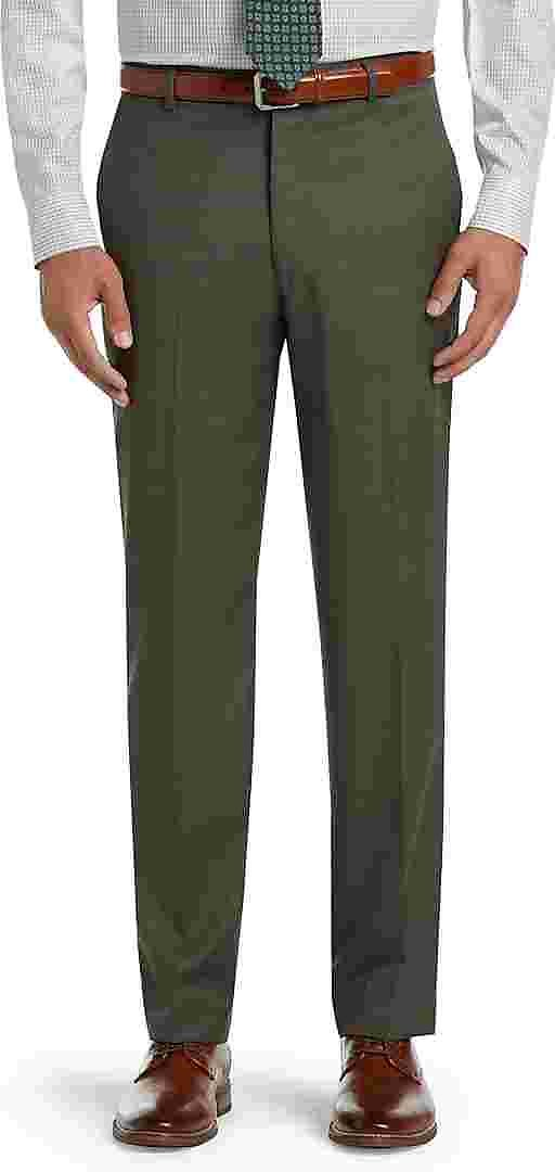 Executive Collection Tailored Fit Flat Front Dress Pants - Big & Tall