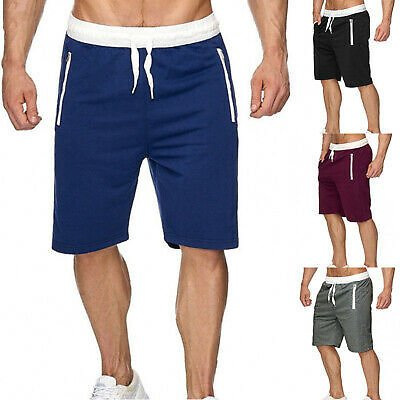 Men's Beach Shorts Gym Sports Sweatpants Short Pant Trousers Running Jogger