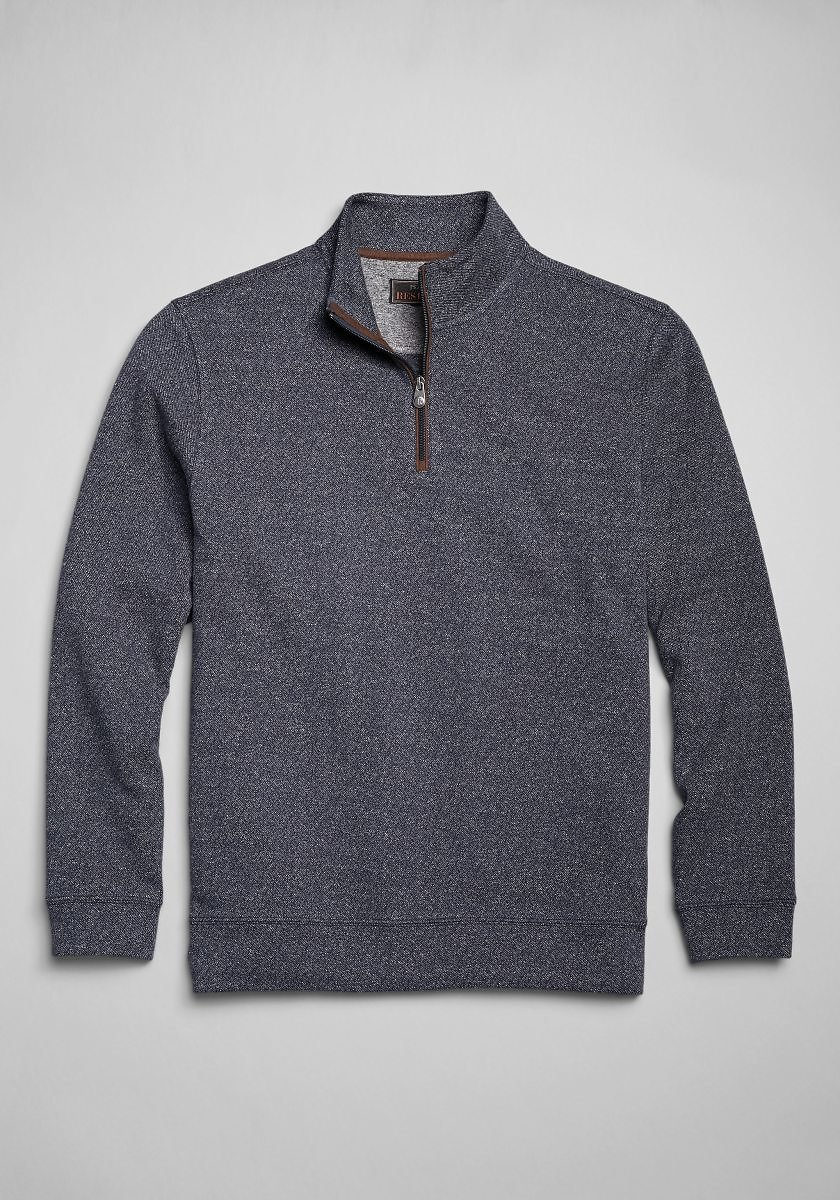 Reserve Collection Cotton Quarter Zip Knit - Big & Tall - New Arrivals | Jos A Bank