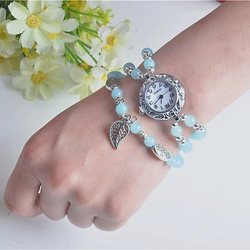 National Style Circular Small Dial Women Simple Vintage Bracelet Watch Quartz Watch Women Watches from Jewelry,Watches & Accessories on Banggood.com