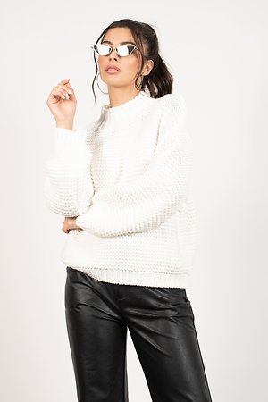 Cecilia White Chunky Knit Sweater
