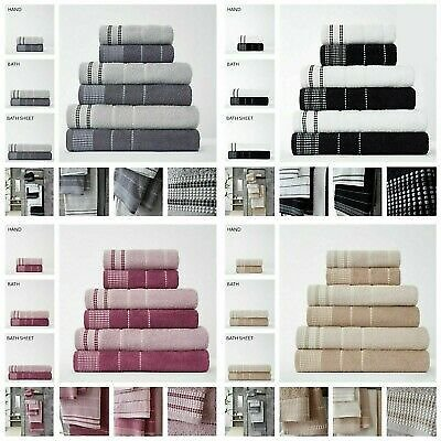 100% EGYPTIAN COTTON TOWEL EMBROIDERY DALBY HAND BATH TOWEL SHEET SOFT ABSORBENT
