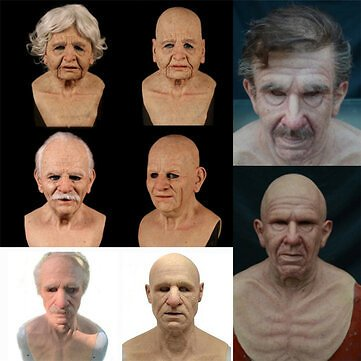 Christmas Cosplay Rubber Old Man Mask Realistic Scary Latex Mask Horror Headgear Cosplay Props for Adult Man WomanJewelryfromJewelry,Watches & Accessorieson Banggood.com