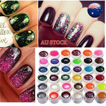 36 Color Glitter Powder UV Gel Extender Nail Art Design Set Nail Art & Tools from Health,Beauty & Hair on Banggood.com