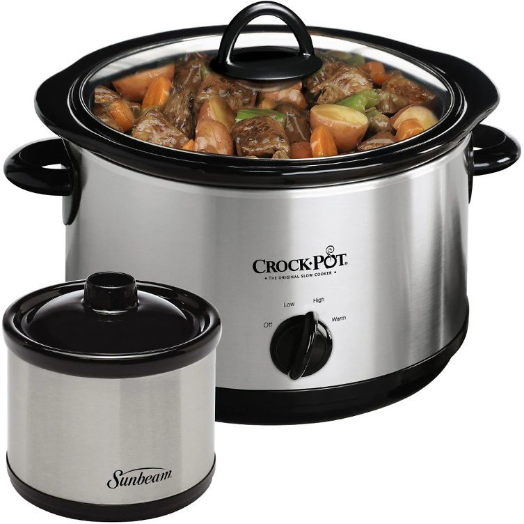 Fred Meyer - Crock-Pot Slow Cooker with Little Dipper Warmer, 2 Pc