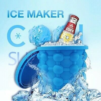 Summer Ice Genie Cube Maker Silicone Wine Ice Bucket Ice Cube Tray Outdoor Tools