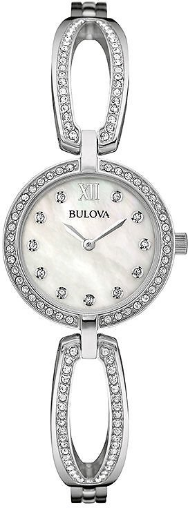 Ladies' Bulova Crystal Accent Watch with Mother-of-Pearl Dial (Model: 96L223)