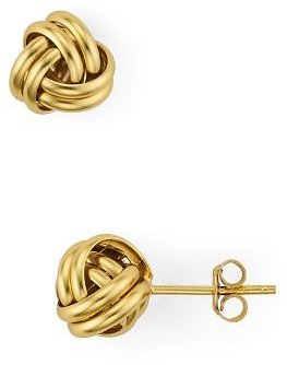 AQUA Love Knot Stud Earrings in 18K Gold-Plated Sterling Silver - 100% Exclusive Jewelry & Accessories - Bloomingdale's