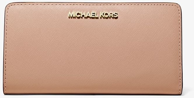 Michael Kors Jet Set Large Saffiano Leather Continental Wallet (2 Colors)