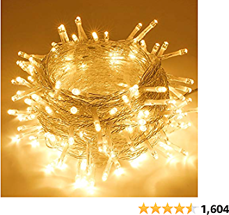 SANJICHA String Lights Indoor/Outdoor, Upgraded Super Bright Christmas Lights with 8 Modes, 66FT