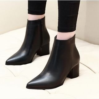 Anran - Block-Heel Ankle Boots