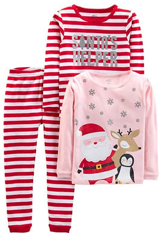 3-Piece Snug-Fit Cotton Christmas Pajama Set