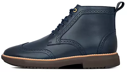 Mens Leather Brogue Boots