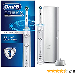 Oral-B Genius X Limited, Rechargeable Electric Toothbrush with Artificial Intelligence, 2020