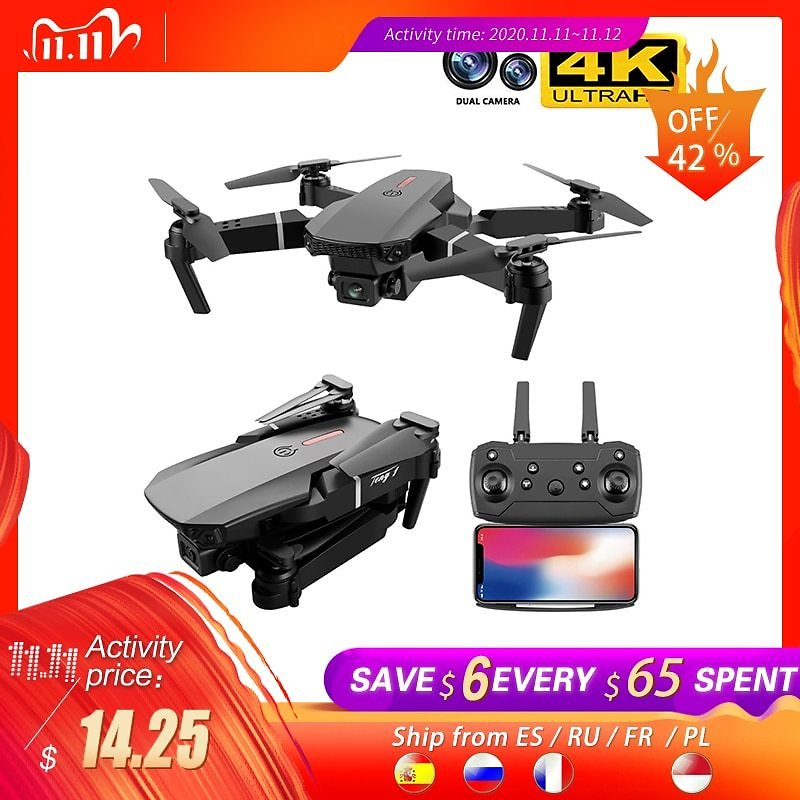 US $15.71 35% OFF|SHAREFUNBAY E88 Pro Drone 4k HD Dual Camera Visual Positioning 1080P WiFi Fpv Drone Height Preservation Rc Quadcopter|RC Quadcopter| - AliExpress