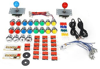 50PCS DIY Arcade Joystick Kit USB Chip Board 32mm LED Buttons 5Pin Joystick Plating Button USB CableVideo Games Equipment & AccessoriesfromConsumer Electronicson Banggood.com